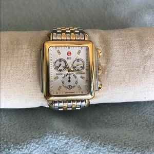 Michele Watch. XL Deci with Diamond hour markers